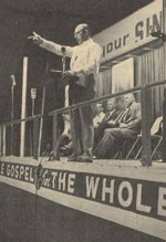 Brunk preaching