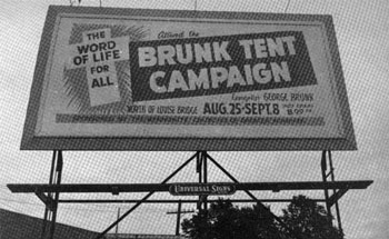Brunk Tent Campaign billboard