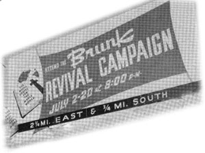 Revival campaign sign