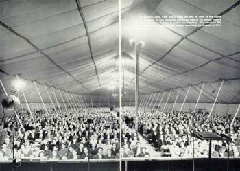 Tent revival meeting