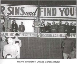 Revival at Waterloo, Ontario, Canada in 1952