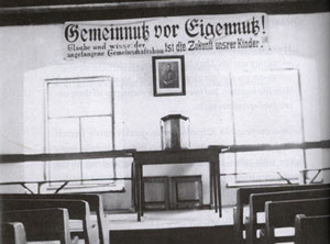 The meeting hall at Fernheim Colony