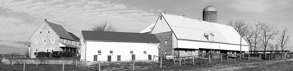 Isaac Long house and barn